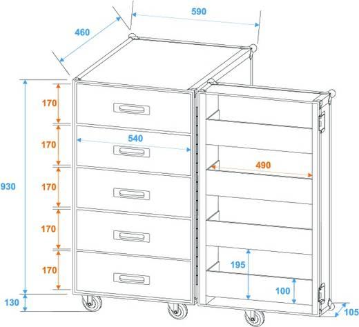 Case Roadinger TSF-1 (L x B x H) 625 x 645 x 1170 mm