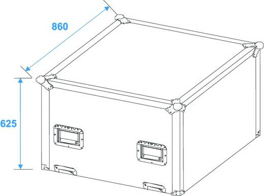 Case Flightcase Spiegelkugel 75cm (L x B x H) 872 x 872 x 1057 mm