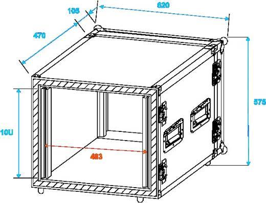 19 Zoll Rack 10 HE 30109716 Holz inkl. Griff