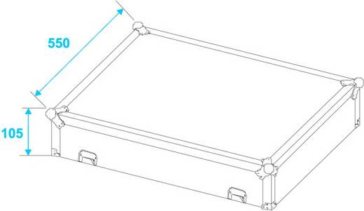 Case Roadinger MCB-19 (L x B x H) 250 x 570 x 730 mm