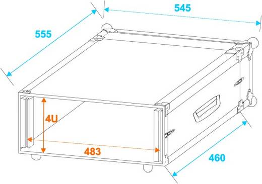 PR-1 19 Zoll Rack 4 HE Holz inkl. Griff