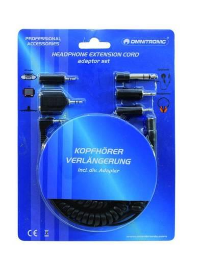 Klinken Adapter [1x Klinkenstecker 3.5 mm - 1x Klinkenstecker 6.35 mm, Klinkenstecker 2.5 mm] 5 m Schwarz Omnitronic