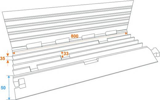 Kabelbrücke Eurolite 5 Kanäle 800mm x 450mm Schwarz/Orange