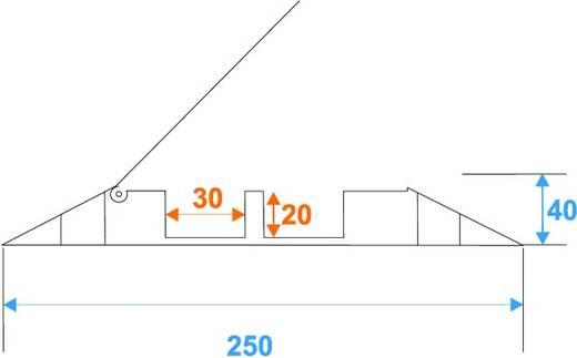 Kabelbrücke Eurolite 2 Kanäle 1000x250mm Schwarz/Orange