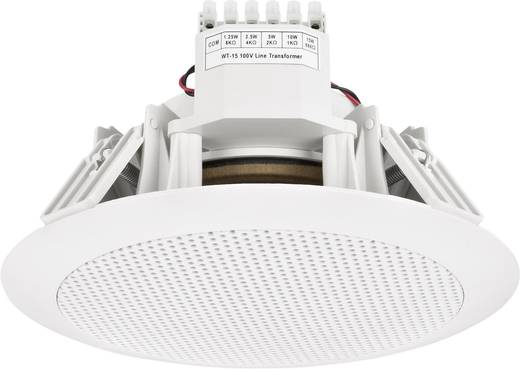 ELA-Einbaulautsprecher Monacor EDL-155 15 W 100 V Weiß 1 St.