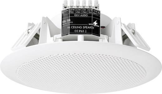 ELA-Einbaulautsprecher Monacor EDL-156 15 W 100 V Weiß 1 St.