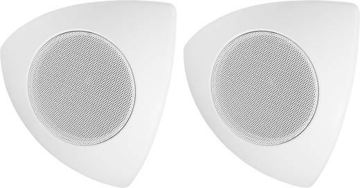 Ecklautsprecher Monacor MKS-48/WS 30 W 8 Ω Weiß 1 Paar