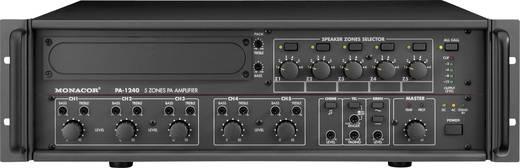 ELA-Verstärker Monacor PA-1240 240 W 5-Zonen