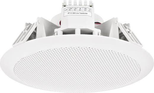 ELA-Einbaulautsprecher Monacor EDL-158 15 W 100 V Weiß 1 St.
