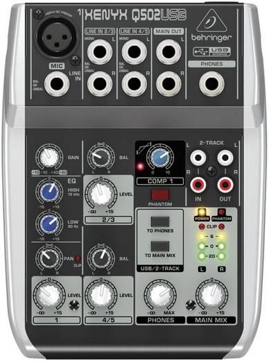 Behringer XENYX Q502USB Konsolen-Mischpult Anzahl Kanäle:3 USB-Anschluss