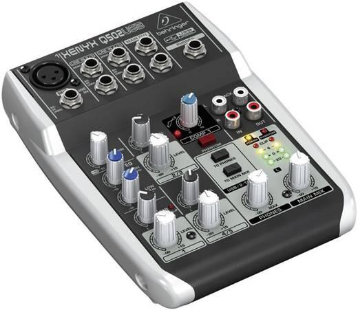 Konsolen-Mischpult Behringer XENYX Q502USB Anzahl Kanäle:3 USB-Anschluss