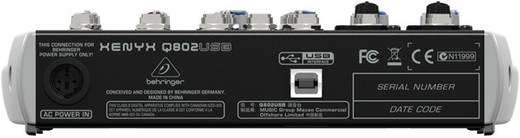Behringer XENYX Q802USB Konsolen-Mischpult Anzahl Kanäle:6 USB-Anschluss