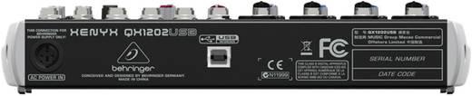 Behringer XENYX QX1202USB Konsolen-Mischpult Anzahl Kanäle:12 USB-Anschluss