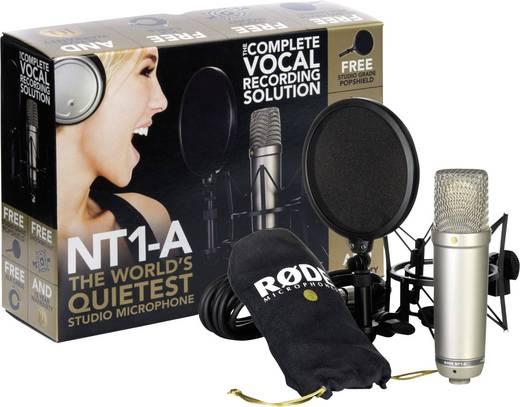 Studiomikrofon RODE Microphones NT1-A Übertragungsart:Kabelgebunden inkl. Kabel, inkl Spinne