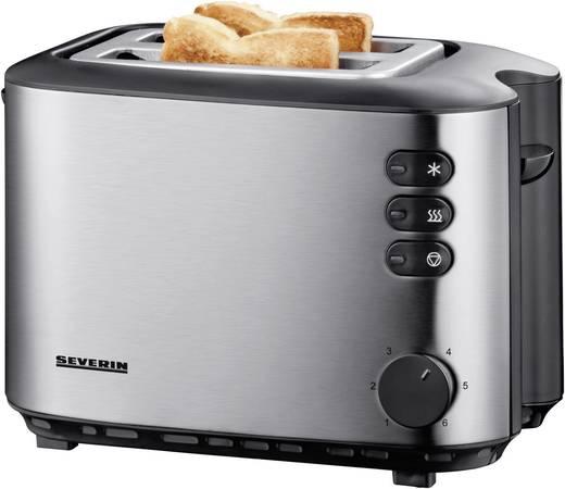 Toaster mit Brötchenaufsatz Severin AT2514 Schwarz, Edelstahl (gebürstet)