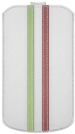 Housse Katinkas Stripe Adapté pour: iPhone 4, iPhone 4s, blanc, vert, rouge