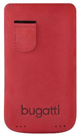 iPhone Tasche Bugatti Perfect Velvety Passend für: Apple iPhone 4, Apple iPhone 4S, Cherry