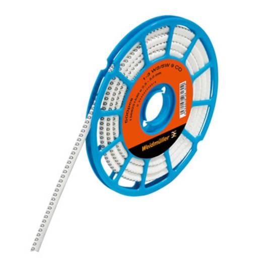 Kennzeichnungsring Aufdruck PET. Außendurchmesser-Bereich 3 bis 5 mm 1568251058 CLI C 1-3 WS/SW PET. CD Weidmüller