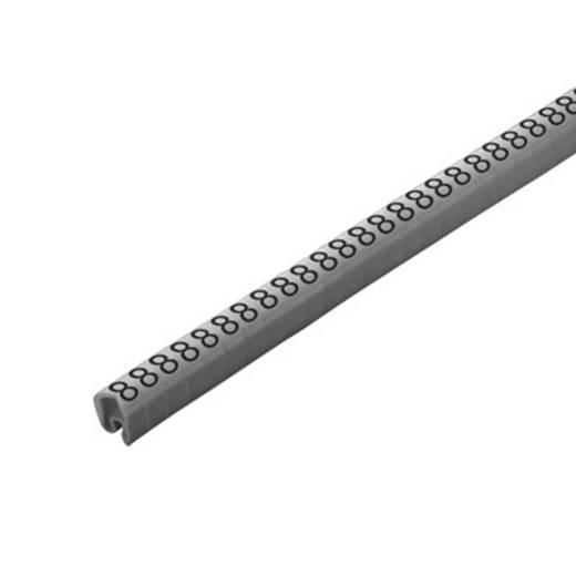 Kennzeichnungsring Aufdruck 8 Außendurchmesser-Bereich 4 bis 10 mm 1568261527 CLI C 2-4 GR/SW 8 CD Weidmüller