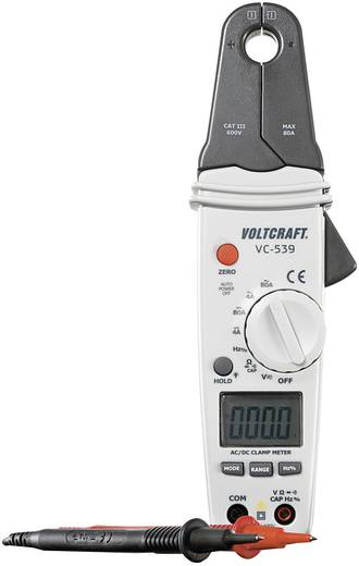 Stromzange VOLTCRAFT VC-539 Kalibriert nach: Werksstandard (ohne Zertifikat) CAT III 600 V Anzeige (Counts): 4000
