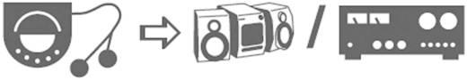 SpeaKa Professional Cinch / Klinke Audio Anschlusskabel [2x Cinch-Stecker - 1x Klinkenstecker 3.5 mm] 15 m Schwarz