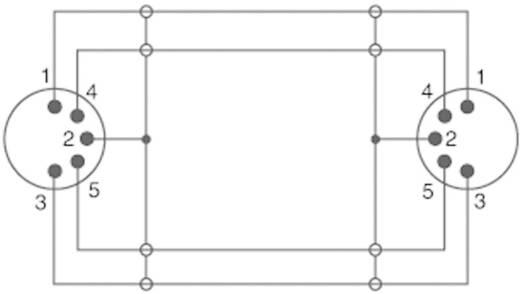 DIN-Anschluss Audio Anschlusskabel [1x Diodenstecker 5pol (DIN) - 1x Diodenstecker 5pol (DIN)] 5 m Schwarz SpeaKa Profe