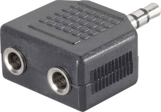 SpeaKa Professional Klinke Audio Y-Adapter [1x Klinkenstecker 3.5 mm - 2x Klinkenbuchse 3.5 mm] Schwarz