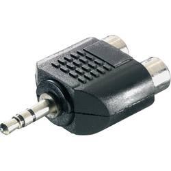 Jack / cinch audio Y adaptér SpeaKa Professional SP-7870248, čierna