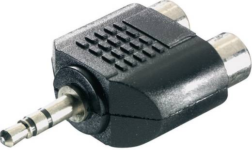 SpeaKa Professional 325097 Klinke / Cinch Audio Y-Adapter [1x Klinkenstecker 3.5 mm - 2x Cinch-Buchse] Schwarz