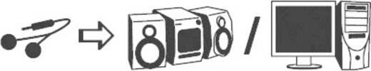 Cinch / Klinke Audio Anschlusskabel [2x Cinch-Stecker - 1x Klinkenbuchse 3.5 mm] 1.50 m Schwarz SpeaKa Professional