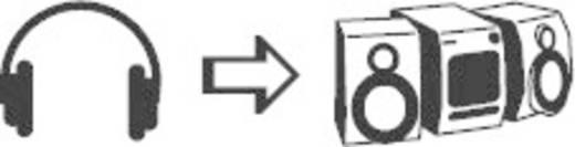 Klinke Audio Y-Adapter [2x Klinkenstecker 6.35 mm - 1x Klinkenbuchse 6.35 mm] Schwarz SpeaKa Professional