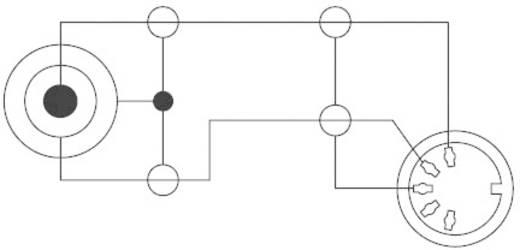 DIN-Anschluss / Klinke Audio Adapter [1x Klinkenstecker 3.5 mm - 1x Diodenbuchse 5pol (DIN)] Schwarz SpeaKa Professional
