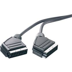 SCART TV, prijímač prepojovací kábel SpeaKa Professional SP-7870388, 0.75 m, čierna