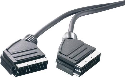 SCART TV, Receiver Anschlusskabel [1x SCART-Stecker - 1x SCART-Stecker] 5 m Schwarz SpeaKa Professional