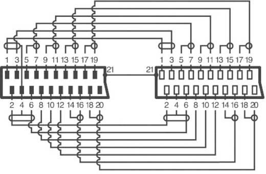 SCART TV, Receiver Verlängerungskabel [1x SCART-Stecker - 1x SCART-Buchse] 3 m Schwarz SpeaKa Professional