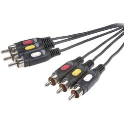 Image of SpeaKa Professional Composite Cinch AV Anschlusskabel [3x Cinch-Stecker - 3x Cinch-Stecker] 10.00 m Schwarz