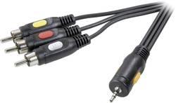 Kabel 4 pin 2,5 mm jack - 3x cinch SPEAKA, 2,5 m