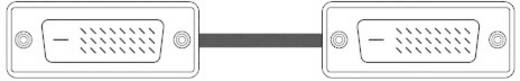 DVI Anschlusskabel [1x DVI-Stecker 18+1pol. - 1x DVI-Stecker 18+1pol.] 1.80 m Weiß SpeaKa Professional