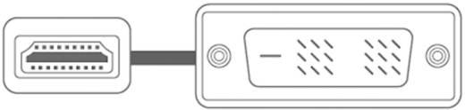 DVI / HDMI Anschlusskabel [1x DVI-Stecker 18+1pol. - 1x HDMI-Stecker] 2 m Weiß SpeaKa Professional