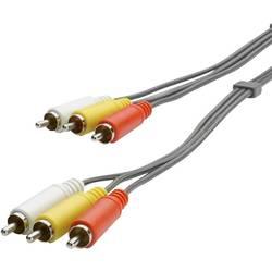 Image of SpeaKa Professional Composite Cinch AV Anschlusskabel [3x Cinch-Stecker - 3x Cinch-Stecker] 3.00 m Schwarz
