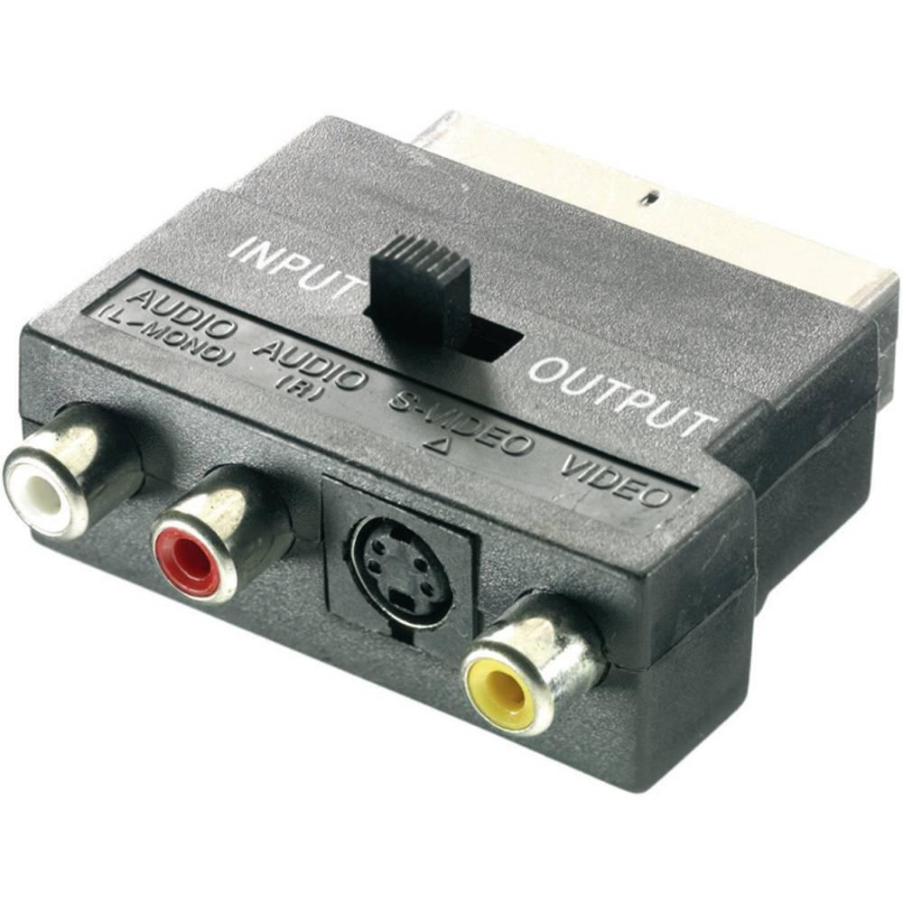 SCART / RCA / S-Video Adapter [1x SCART plug - 3x RCA socket (phono ...