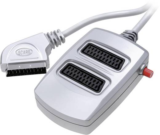 SCART Adapter [1x SCART-Stecker - 2x SCART-Buchse] Silber SpeaKa Professional