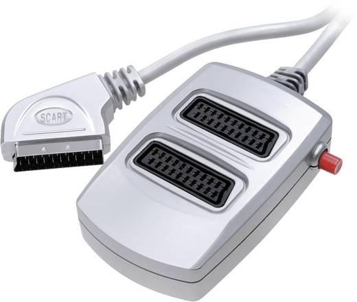 SpeaKa Professional SCART Adapter [1x SCART-Stecker - 2x SCART-Buchse] Silber
