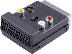 SCART / cinch / S-video Y adaptér SpeaKa Professional 50170 SP-1300864, [1x SCART zástrčka - 3x cinch zásuvka, SCART zásuvka, S-Video zásuvka], černá