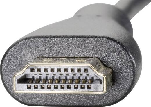 SpeaKa Professional HDMI Anschlusskabel [1x HDMI-Stecker - 1x HDMI-Stecker D Micro] 0.45 m Schwarz