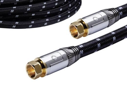 Antennen, SAT Anschlusskabel [1x F-Stecker - 1x F-Stecker] 125 dB vergoldete Steckkontakte, gesleeved Schwarz-Grau Oehl