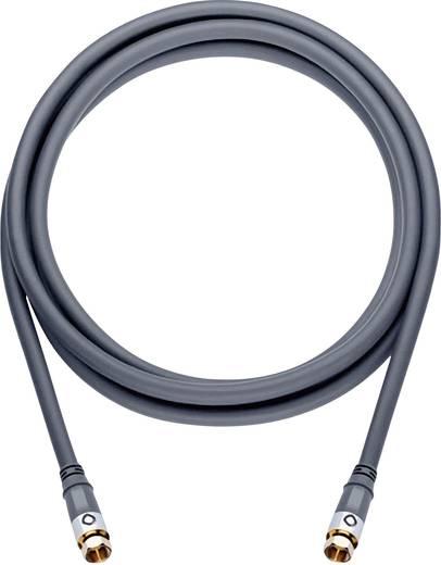 SAT Anschlusskabel [1x F-Stecker - 1x F-Stecker] 5.10 m 120 dB vergoldete Steckkontakte Silber Oehlbach