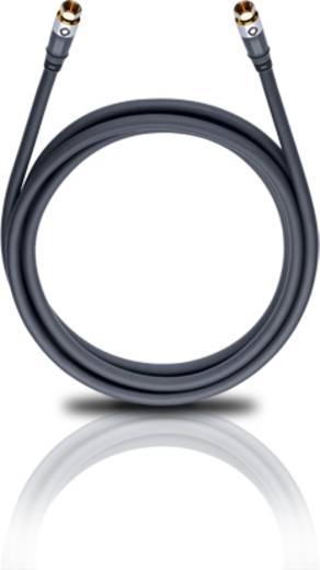 SAT Anschlusskabel [1x F-Stecker - 1x F-Stecker] 7.50 m 120 dB vergoldete Steckkontakte Silber Oehlbach