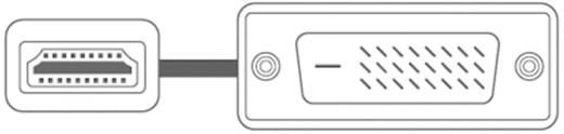 Sound & Image Adapterkabel HDMI-Stecker / DVI-D-Stecker 3 m