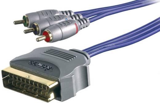 Cinch / SCART Video Anschlusskabel [3x Cinch-Stecker - 1x SCART-Stecker] 1 m Schwarz Sound & Image